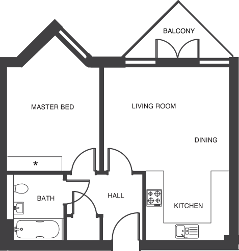 The Depot floorplans_apartments 1a and 8a
