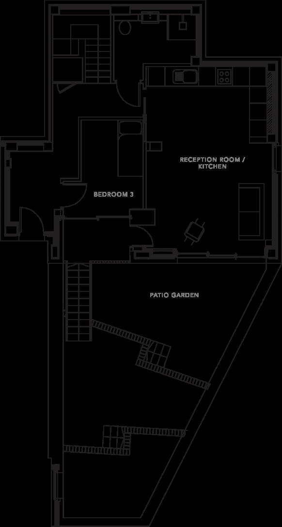 The Apartments floorplans_Apartment 1b