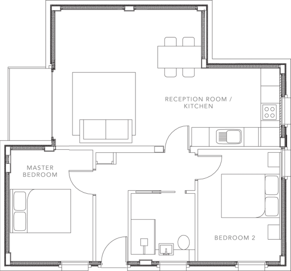 The Apartments floorplans_Apartment 8