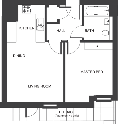 The Depot floorplans_apartments 4a and 11a
