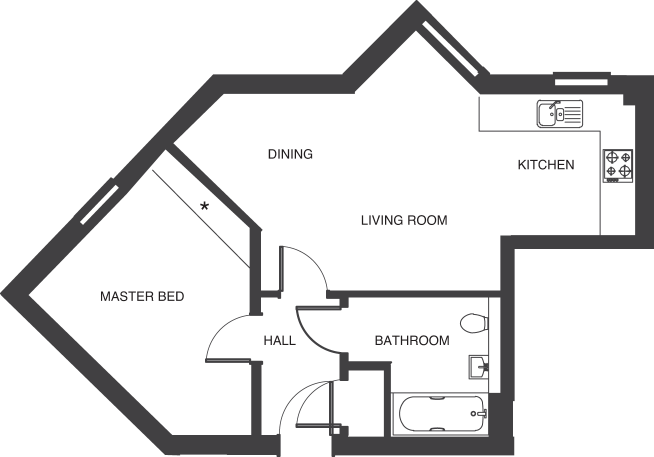 The Depot floorplans_apartment 1a and 14a